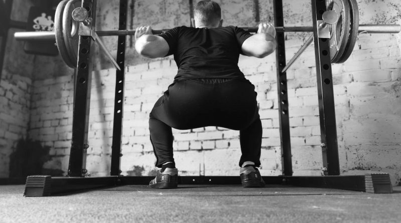 squat : corps d'athlete