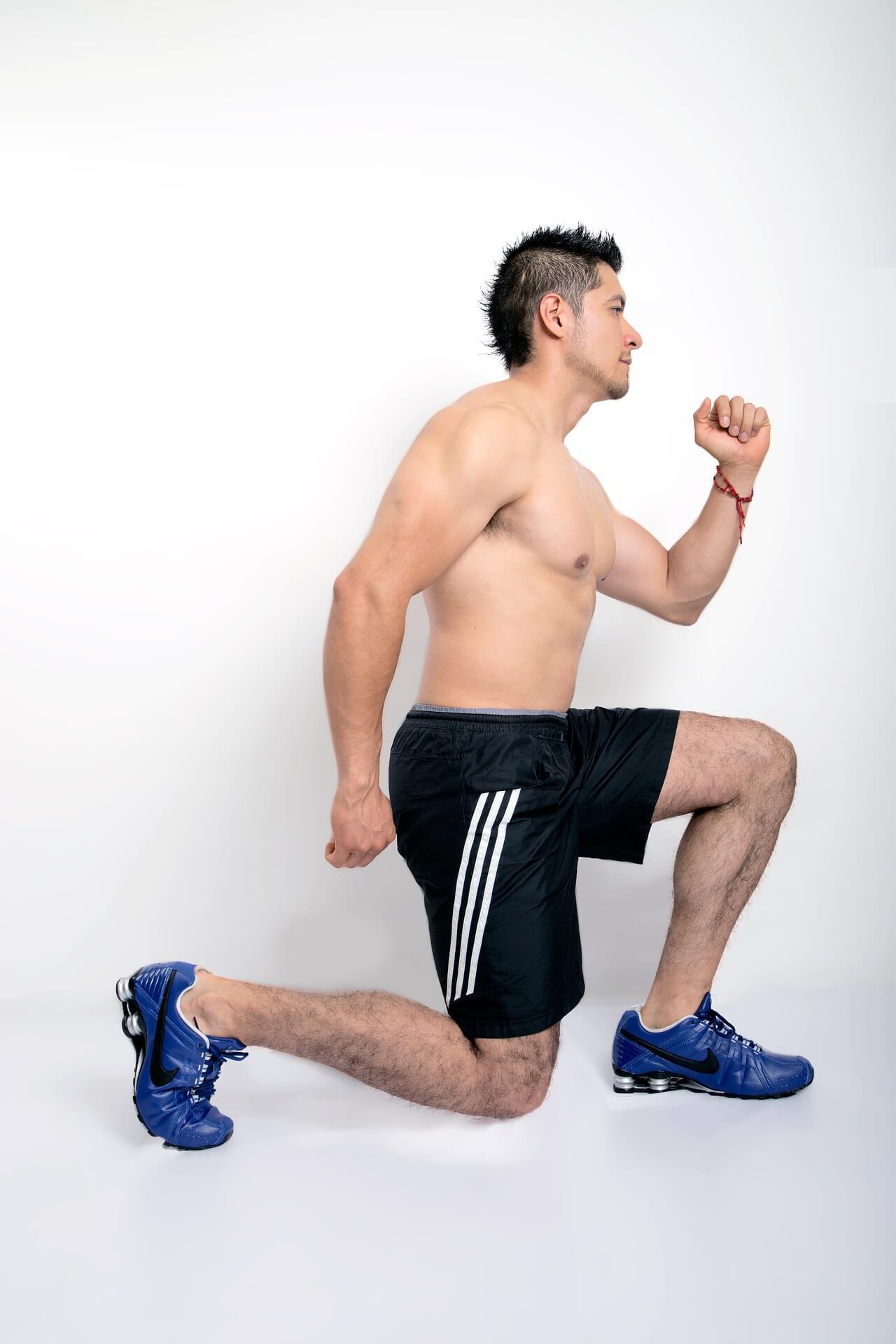 corps d'athlète: fentes